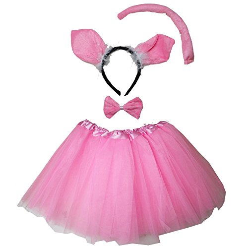Kirei Sui Kids Costume Tutu Set Pig]()