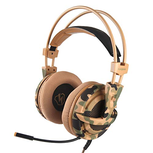 (LETTON L1 Camouflage Headset Bass Gaming Headphones Game Earphones Casque with Mic for PS4 PC Mobile Phone New Xbox One Tablet)