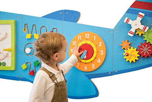 41sPH3finzL - Learning Advantage Airplane Activity Wall Panels - Toddler Activity Center - Wall-Mounted Toy for Kids Aged 18M+ - Kids Decor for Play Areas (50673)