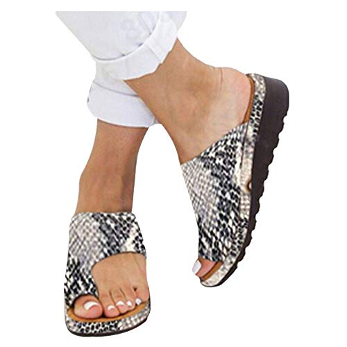 Platform Sandals for Women- 2019 New Comfort Flip Flops Wedge Shoes Flats Beach Casual Slippers