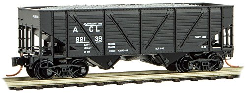(Micro-Trains MTL N-Scale 2-Bay Aggregate Hopper/Load Atlantic Coast Line)
