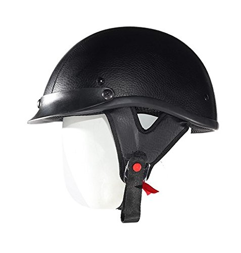 Leather Covered Motorcycle Helmet - 2