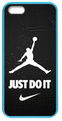 Cool Design NBA Chicago Bulls Air Michael Jordan Logo - JUST DO IT - Case Cover for Iphone 5/5S(Laser Technology) Design By WBQ STORE