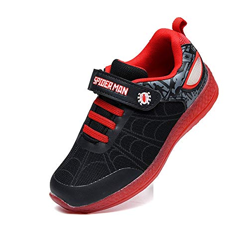 ANKIDS Kids Marvel Spider-Man, Captain America, Iron Man LED Flash Sneakers 13.5 Little Kid, Spiderman/Black (The Amazing Spider Man 2 Game Ps3 Price)