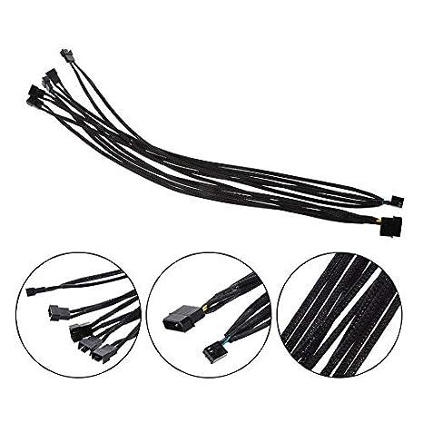 Heasen 1 To 5 4 Pin Molex Tx4 Pwm Cpu Cooling Fan Splitter Adapter