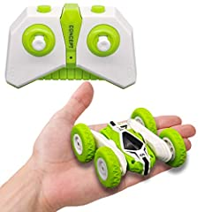 Features: 1. Mini size, easy to carry, more suitable for children. 2. Made of high quality plastic, the car body is sturdy. 3. 2. 4GHz remote controlled mutual interference. 4. Usb charging, convenient charging and short charging time. Specif...