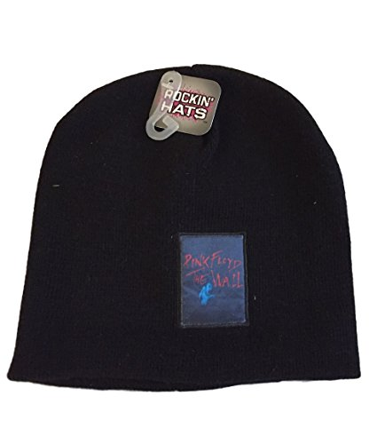 Price comparison product image Pink Floyd The Wall Patch Logo Beanie Skull Cap Knit Black Hat Licensed. NWT