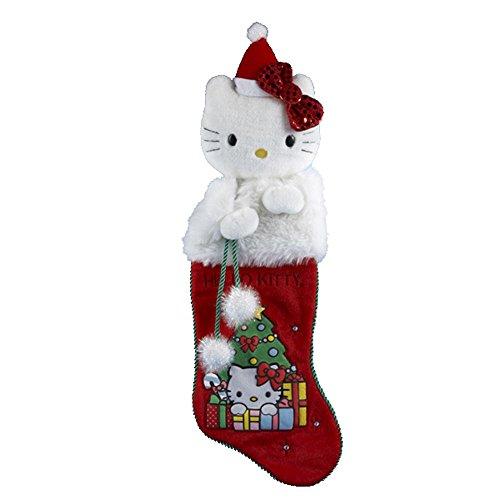 Hello Kitty Plush Head - Kurt Adler Hello Kitty Plush Head Stocking