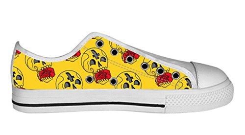 Ademend Antislip Laag Canvas Schoenen Met Dag Van Dead Ontwerp Voor Dames Dames Shoes02