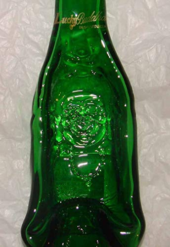Upcycled Lucky Buddha Beer Bottle Fused Glass Spoon Rest Dish