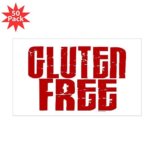 CafePress - Gluten Free 1.8 (Cinnamon) Rectangle Sticker 50 P - Sticker (Rectangle 50 pk)
