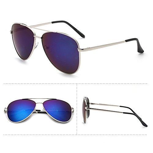 Sunyan lunettes, étoile rouge, étoile rouge, lunettes, lunettes de soleil, les femmes coréennes de neuf lunettes style 0720,Silver ash encadrée
