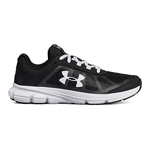 Under Armour Kids' Grade School Rave 2 Sneaker,Black (001)/Overcast Gray,4 M US by Under Armour (Image #1)
