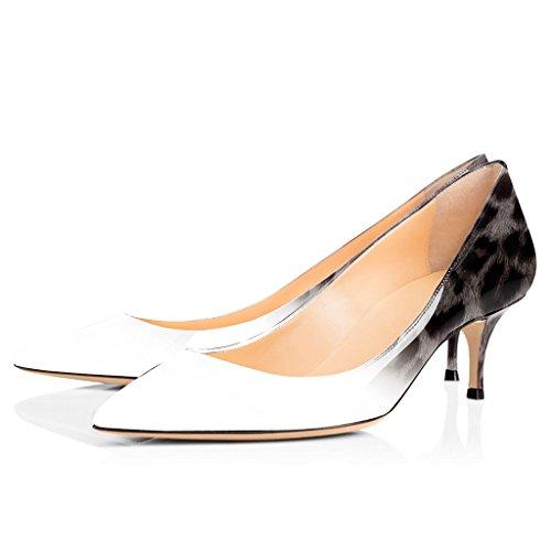 Bout 6 Sexy Fermé Escarpins EDEFS Kitten 10 5CM Black Heel Femme Pointu Chaussures v8xHnw8