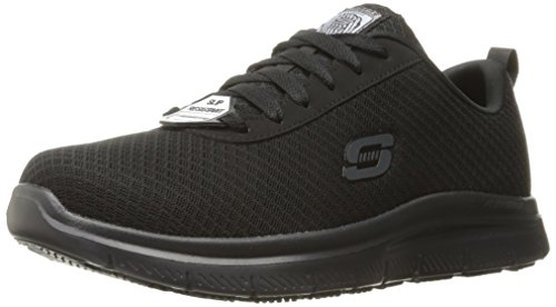 Skechers for Work Men's Flex Advantage Bendon Wide Work Shoe, Black, 9 W US