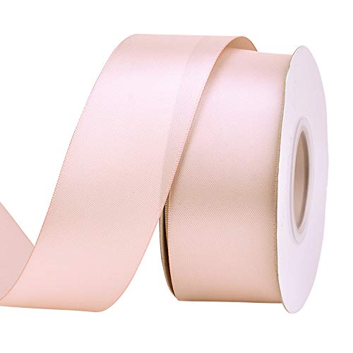 Ribest 1-1/2 inch 25 Yards Solid Double Face Satin Ribbon Per Roll for DIY Hair Accessories Scrapbooking Gift Packaging Party Decoration Wedding Flowers Vanila
