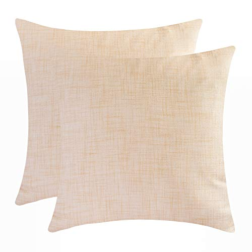 The White Petals Cream Euro Pillow Covers - Luxurious, Elegant & Decorative (26x26 inch, Pack of 2)