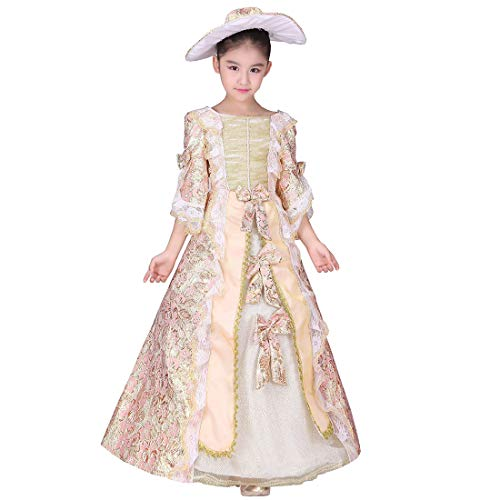 Girl Victorian Dress (KUFEIUP Renaissance Medieval Gothic Victorian Palace Costume Layered Dress For)