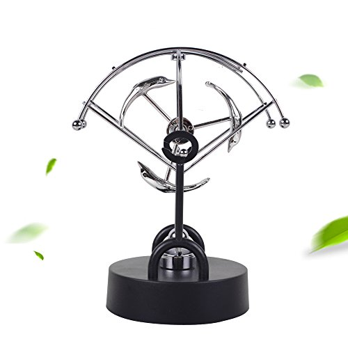 Perpetual Motion Desk Toy, Vinmax Electrics Physics Balance Pendulum Newton't Cradle Gifts Ideal Freestyle Magnetic Dolphin Machine for Home Office Desk Decoration Ornaments