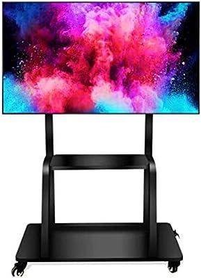 Exing Universal TV Soporte móvil, 55-95 Pulgadas LCD LED Plasma TV Montaje Piso Display Stand carros/Trolley con Soporte de DVD: Amazon.es: Hogar