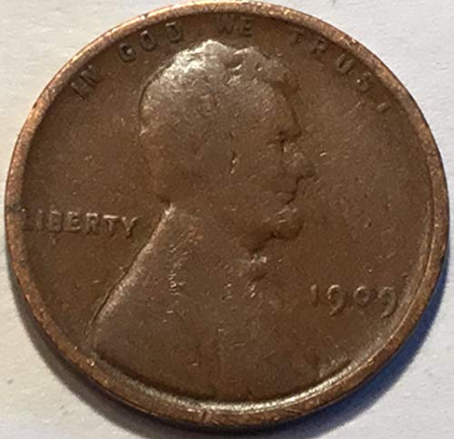 1909 Lincoln Wheat Cent Penny Good