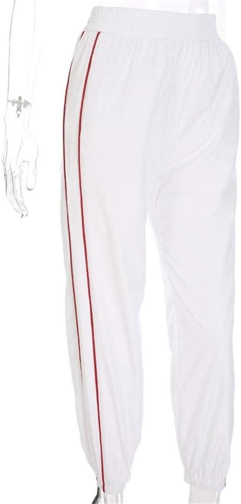 Pantalones de chándal Mujer Rayas Pantalones de carga Elástico ...