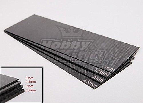 Woven Carbon Fiber Sheet 300x100 (1.0MM Thick) Carbon Fiber Sheet