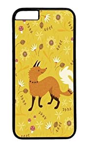 Apple Iphone 6 Case,WENJORS Adorable Cute as a Fox Hard Case Protective Shell Cell Phone Cover For Apple Iphone 6 (4.7 Inch) - PC Black