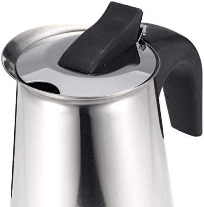 450ml en acier inoxydable Cafetière moka espresso Latte percolateur Machine à café avec filtre électrique Poêle Boisson xuwuhz