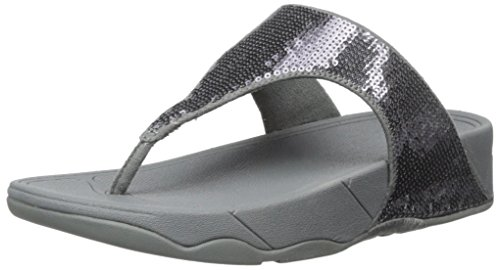 FitFlop Women's Classic Electra Sandal ,Pewter ,7 M US (Fitflop Electra Classic Sequin Flip Flop Sandal)