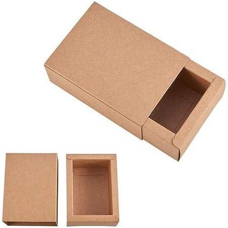 circulor 20 Pcs Cajas De Cartón Kraft para Anillo, Jabones, Joyas, Dulces, Cajas De Embalaje Cajas De Papel Kraft: Amazon.es: Hogar