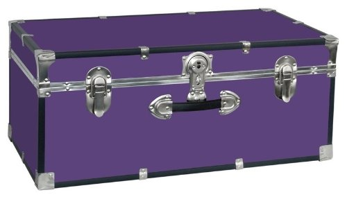 Collegiate II 30 in. Footlocker w Handle in Purple by Seward Trunk