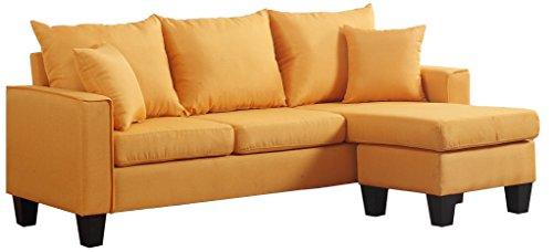 Amazon Com Divano Roma Furniture Exp72 Yellow Modern