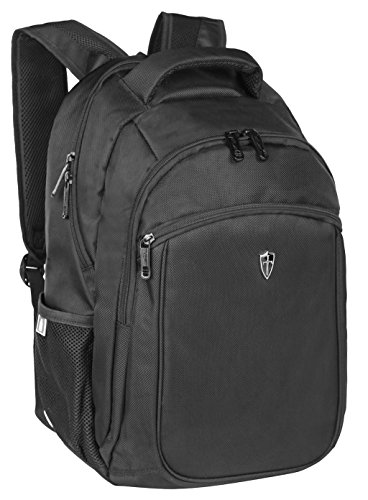 Victoriatourist V6003 Laptop Backpack College Bookbag Business Travel Nylon Rucksack for Men Women Fits Macbook Pro / Most 15.6 Inch Laptops, Black (Flight Gear Backpack compare prices)