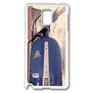 Custom Samsung Galaxy note 4 Case,Classic motorcycle as TPU White Samsung Galaxy note 4 Cases