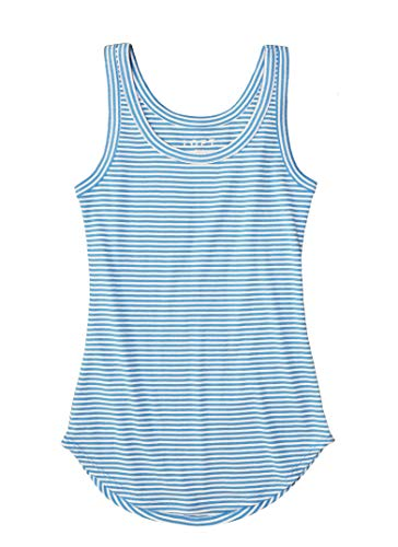 Ann Taylor LOFT Women's Essential Layering Cotton Tank Top (Medium, Blue Striped Shirttail) from Ann Taylor LOFT