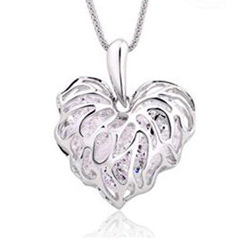 [Fashion Women Gold Plated Heart Bib Statement Chain Pendant Necklace Jewelry NEW Silver.] (Custom Snake Eyes Costumes)