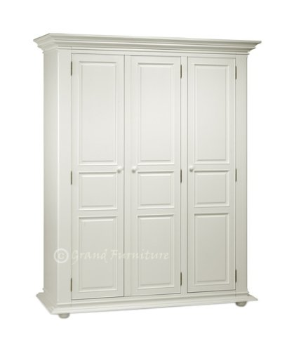 New Joseph French Style Free Standing Large 3 Door Wardrobe Closet