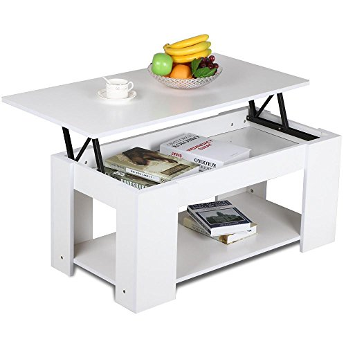Yaheetech Lift Up Top Coffee Table with Storage & Shelf Modern Occasional Table White (Coffee Tables Storage compare prices)