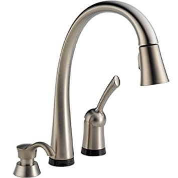 delta 980t sssd dst pilar single handle pull down kitchen faucet with touch2o. beautiful ideas. Home Design Ideas