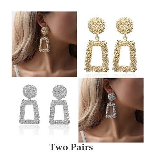 (Zealmer Punk Bohemian Geometric Dangle Earrings for Women)