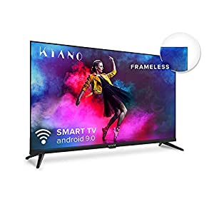 "METAL Kiano Elegance TV 32"" Pollici Android TV 9.0 [Televisore 80 cm Frameless Senza Cornice TV 8GB] HD, Smart TV, Netfilx, Youtube, Facebook) Triple Tuner DVB-T2 C/S2, CI, PVR, WiFi, Classe A 16"