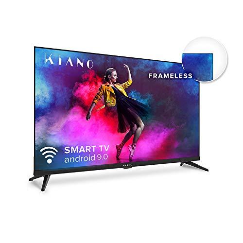 Kiano Elegance TV 50 inch 4K UHD HDR10 metalen case (Android TV 9.0 2 GB RAM metalen hoes [127 cm frameless 8 GB] Smart…