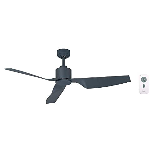 Lucci Air 210527010 Climate II 3 Blade Indoor DC Motor Ceiling Fan with Remote Control, 50 Inch, Charcoal