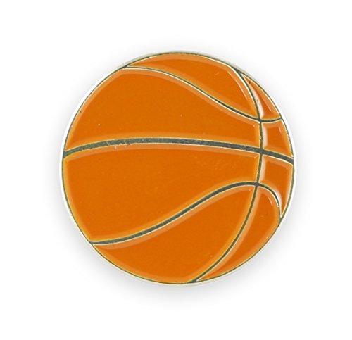 (Basketball Enamel Cufflink + Lapel Pin + Tie Bar (Gold Lapel)