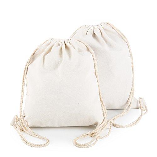 Yingkor 2-pack Cotton Canvas Drawstring Backpack Gym - Sack Canvas Drawstring Back