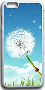 Dseason Iphone I6plus case, Slim Hard Unique Design Dandelion under the blue sky