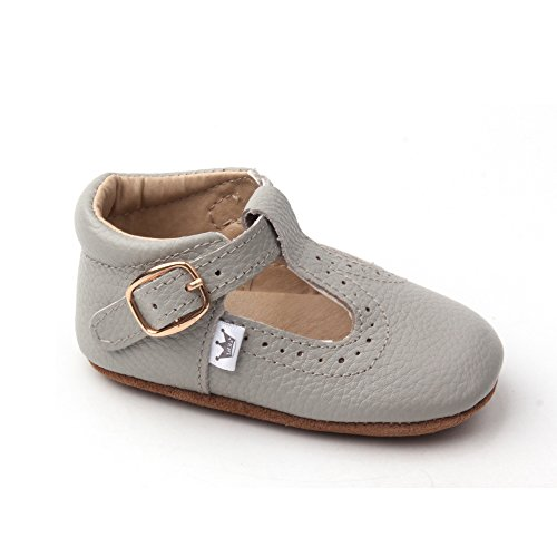 Liv & Leo Baby Girls Mary Jane T-Bar T-Strap Oxford Soft Sole Crib Shoes Leather (12-18 Months, ()