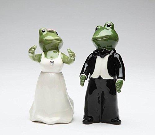 ATD 4.13 Inch Fog Themed Wedding Couple Salt & Pepper Shaker Set