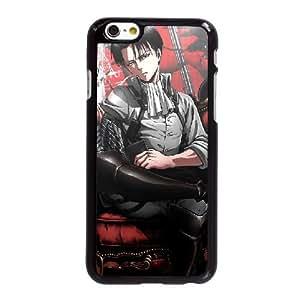 Funda iPhone 6 6S más la caja del teléfono celular de 5.5 pulgadas Funda Negro Levi Ackerman T7M6VK